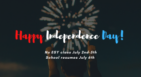 no ESY due to 4th of July