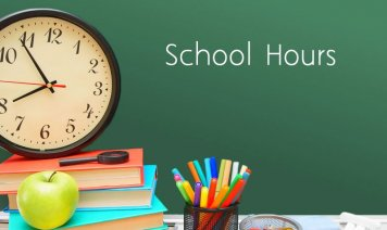 school hours sign