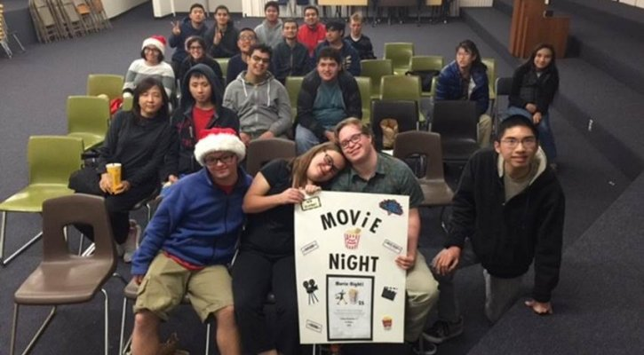iatp students at movie night