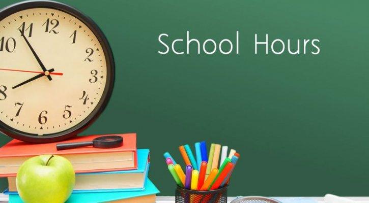 school hours sign